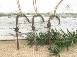 country farmhouse chic barbed wire ornament