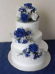 wedding cake royal blue white wedding cake with blue flowers craft ideas