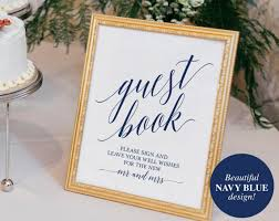 wedding guest sign in navy guest book sign guest book wedding guest book ideas