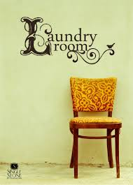 laundry room wall decal vintage style vinyl text wall words zoom