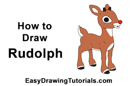 draw rudolph red nosed reindeer