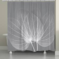 Coral And Grey Shower Curtain Shower Curtains