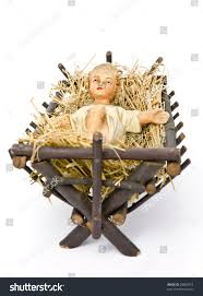 baby jesus figurine lying manger on stock photo 20895919