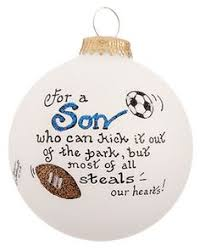 painted soccer glass ornament glass