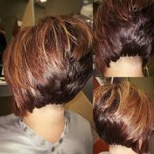 hi bob hair styles undercut stacked bob with high lights and low lights more