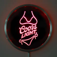 coors light bar sign rs a0119 coors light led neon round signs 25cm 10 inch bar