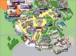 Jurassic Park Map Universal Studios California Map California Map