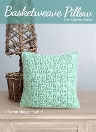 basketweave throw pillow free pattern little monkeys crochet