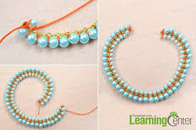 necklace making with pearl images How to make a double woven pearl necklace with chains and nylon jpg