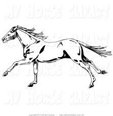 ferrari horse outline horse mane clipart 25
