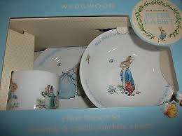 wedgwood rabbit nursery set vintage rabbit nursery set by wedgewood beatrix potter new