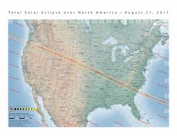 United States America Map by Nasa Total Solar Eclipse Of 2017 August 21