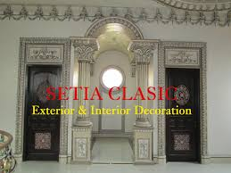 desain gapura ruang tamu pilar sebagai simbol kekuatan arsitektur bangunan setia clasic