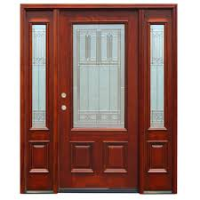 Prehung Patio Doors by Pacific Entries 70 In X 80 In Contemporary 5 Panel Stained