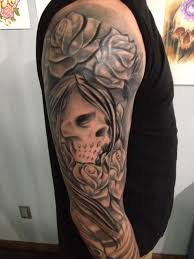 skull and roses tattoo black and grey best home decorating ideas