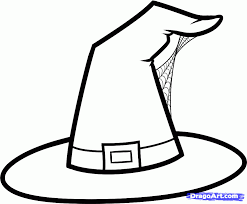 halloween clipart free black and white witch hat coloring page color periods free coloring pages