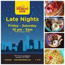 open for breakfast on thanksgiving the breakfast klub home houston texas menu prices