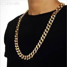gold necklace men fashion images Hip hop bling 18k gold cuban chain men 39 s necklace sn033 for sale jpg