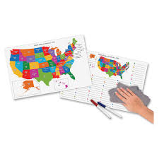 United States Learning Map by Pacon 2206 Dry Erase Learning Board Maps 11