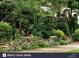 Garden Rock Wall by Front Steps And Rock Retaining Wall Of Minneapolis Minnesota Home