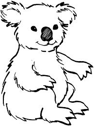koala bear clipart coloring page pencil and in color koala bear