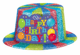 happy birthday sparkle top hat 2 order