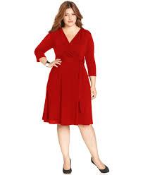 ny collection plus size faux wrap dress macys 7 color
