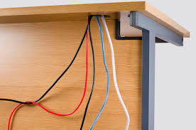 How To Organize Cables On Desk by Desk Cable Management Provides Space For Office Cables