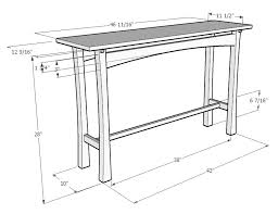 sofa table design sofa table dimensions best samples collection