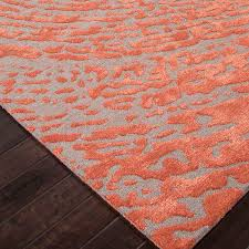 Orange And Grey Rugs Contemporary Abstract Pattern Area Rug Red Grey 2 U0027 X 3
