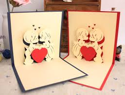 romantic handmade floral heart birthday card for boyfriends in