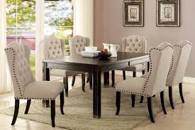 furniture of america sania i dining table u0026 chairs set cm3324bk