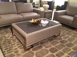 Gold Sofa Living Room by Aico Leather Sofa With Rose Gold Metal Trim Leather Sofas