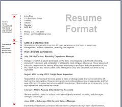 standard format resume resume format write the best resume