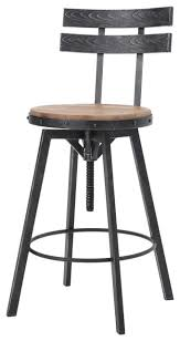 modern industrial design counter bar stool adjustable seat height