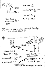 right triangle trig word problems worksheet worksheets
