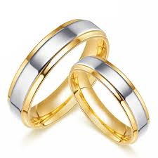 gold promise rings engravable 18k gold plated titanium promise rings matching couples