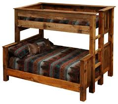 Plans For Building Log Bunk B by Rustic Bunk Bed Building Plans Rustic Bunk Beds Twin Over Full