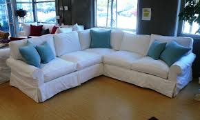 Slipcovered Sectional Sofa by Denim Slipcover Sectional Sofa Tehranmix Decoration