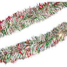 northlight seasonal holographic tinsel garland with