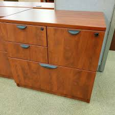 Lateral File Cabinet Used by Bbff Vertical Lateral And Storage File Drawer Combo Cherry Cognac
