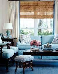 White Curtains With Blue Trim Everything You Need To About Classic Woven Wood Blinds