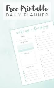 Daily Planners Templates Best 25 Daily Printable Ideas On Pinterest Daily Schedule