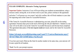 letter of accommodation loa center for accessible resources