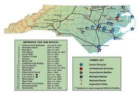 Map Of Carolinas North Carolina Civil War History Battles Soldiers Secession