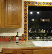 mexican tile backsplash kitchen mexican ceramic tile backsplash mexican tile around the window