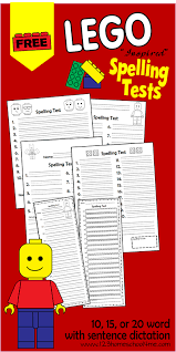free lego spelling test printables and blank worksheets free