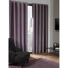Purple Thermal Blackout Curtains by Luxury Logan Textured Silver Eyelet Ring Top Thermal Blackout