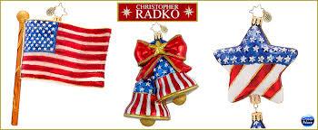 christopher radko patriotic ornaments