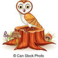 A Cartoon Barn Comic Tree Stump Illustration Of A Cartoon Funny Big Tree